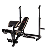 Marcy MD-879 Adjustable Olympic Weight Bench Leg Developer Squat Rack