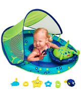 SwimWays Interactive Toys Inflatable with Canopy Baby Float
