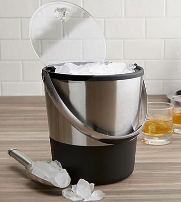 Review of Oggi 7311 Double Wall Ice Bucket with Flip Lid