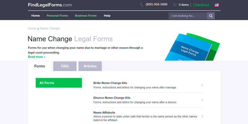 Review of FindLegalForms Name Change Legal Forms