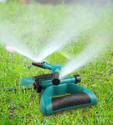 Review of Gesentur Lawn Sprinkler Automatic 360 Rotating