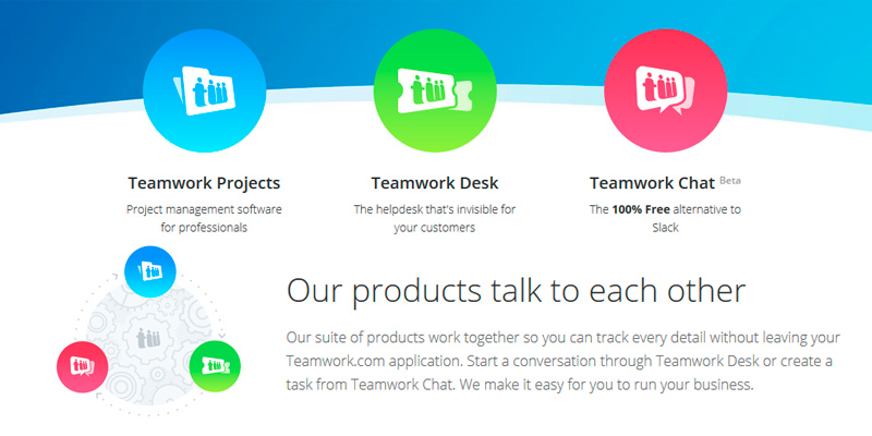 Teamwork Project Management Software in the use