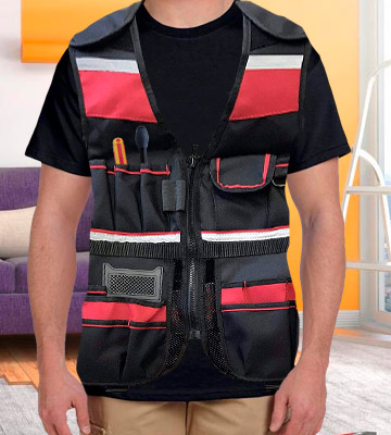 Review of Duratool Tool Vest Durable Lightweight with Multiple Pockets for Carpenters Electrician Construction for Men and Women Small to XL