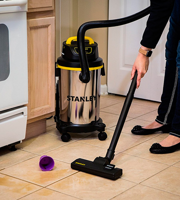 Review of Stanley SL18129 4 Gallon Wet Dry Vacuum, Stainless Steel Tank