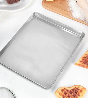 Review of David Burke Large Cookie Sheet Bakeware Kitchen Commercial Weight 17 x 11