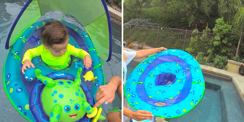Review of SwimWays Interactive Toys Inflatable with Canopy Baby Float