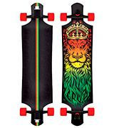 Santa Cruz Lion God Rasta Cruzer Freeride Longboard