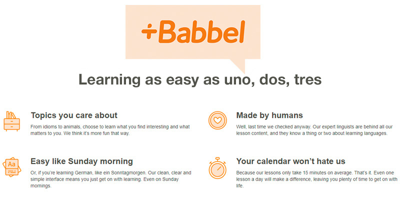 Review of Babbel Learn Spanish Online The fun and easy way to learn