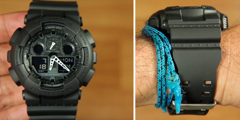 Casio G-SHOCK GA100-1A1 Military Series Watch in the use
