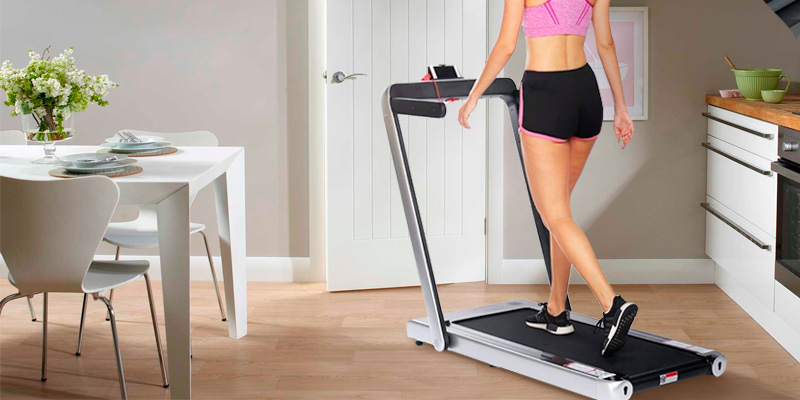 Review of Miageek 2 in 1 Walking/Running Folding Treadmill