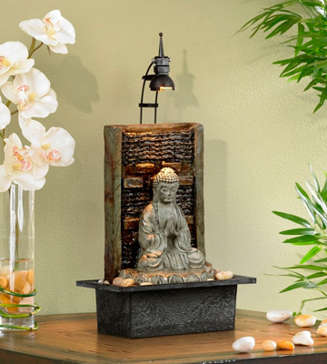 Review of John Timberland Namaste Buddha Table Fountain