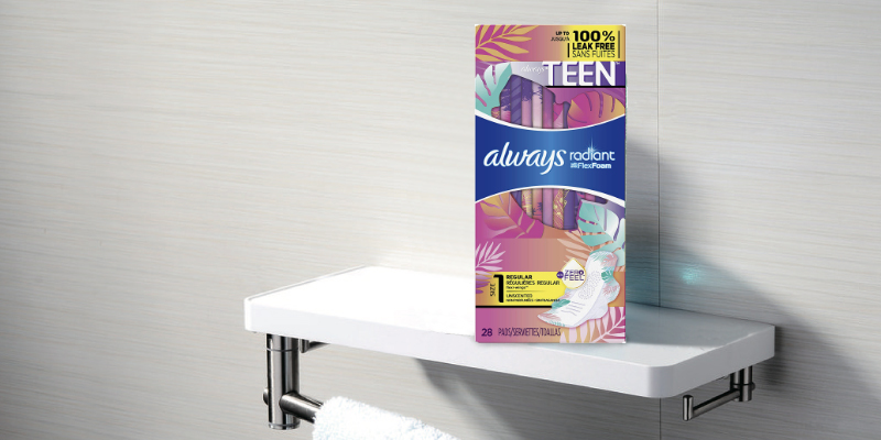 Review of Always 28Pcs Totally Teen/Tween Radiant Infinity Sanitary Pads