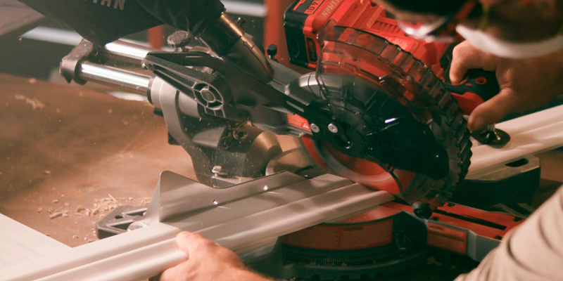 Craftsman CMCS714M1 Sliding Miter Saw Kit in the use