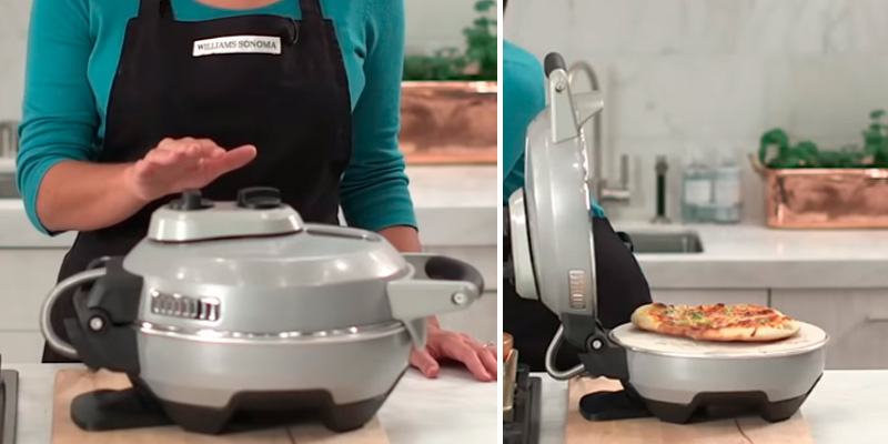Breville Crispy Crust Pizza Maker in the use