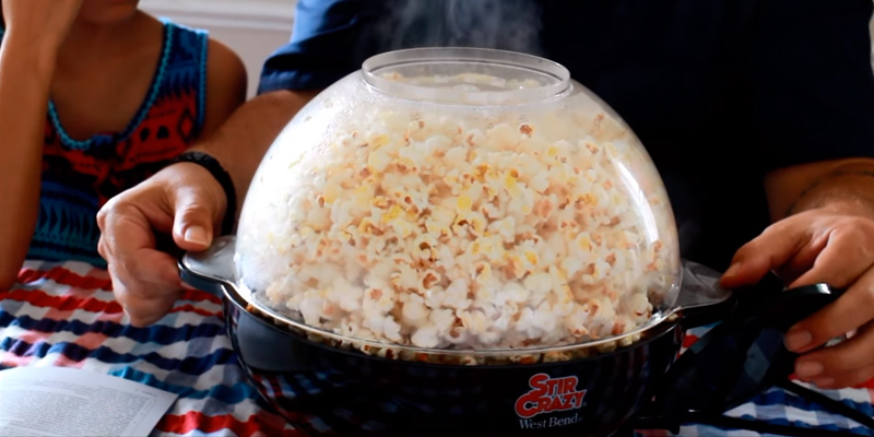 West Bend 82306 Stir Crazy Electric Popcorn Popper in the use