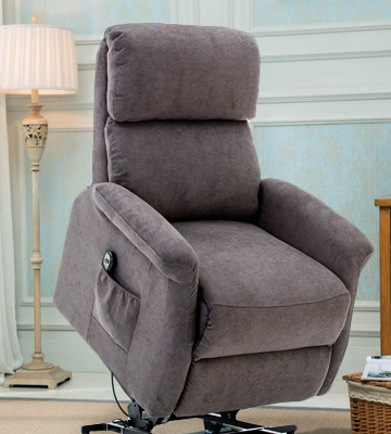 Review of BONZY L6118A51-C159 Classic Power Lift Chair Soft and Warm Fabric