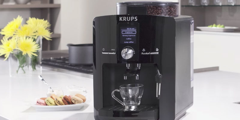 KRUPS EA8250 Espresseria Fully Automatic Espresso Machine Coffee Maker in the use