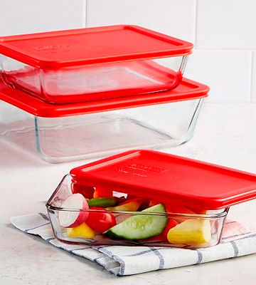 Review of Pyrex 6-Piece Simply Store Glass Rectangular Food Container Set
