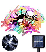 Icicle J&LS-1AA-20L Dragonfly Solar String Lights