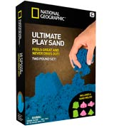 National Geographic Ultimate Play Sand with Castle Molds and Tray