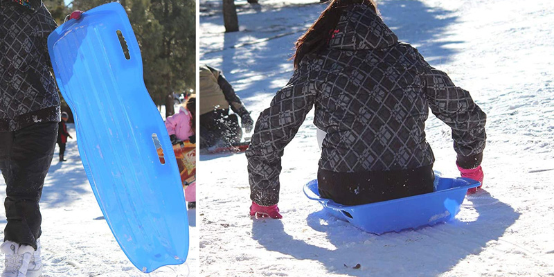 Review of Slippery Racer Downhill Xtreme Toboggan Snow Sled