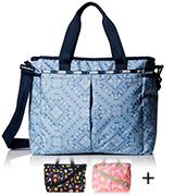 LeSportsac Classic Ryan Baby Bag Zipper closure