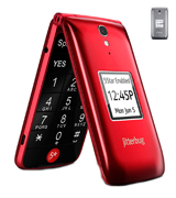 Jitterbug 4043SJ6RED Flip Easy-to-use Cell Phone