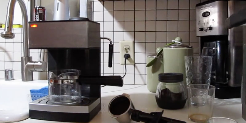 Mr. Coffee ECM160 4-Cup Steam Espresso System with Milk Frother in the use