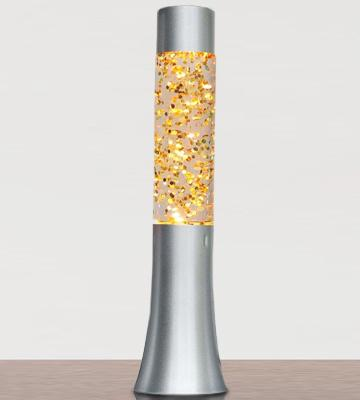 "Review of Lightahead Glitter Glow Lamp 13"" Glitter Glow with Silver Base"