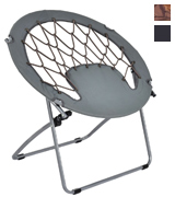 Giantex HW53054GR Folding Round Bungee Chair
