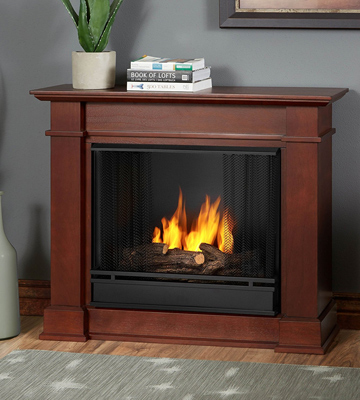 Review of Real Flame Devin Indoor Gel Fireplace in Dark Espresso