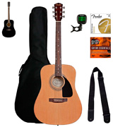 Fender 0950816021-COMBO-DLX Acoustic Guitar Bundle