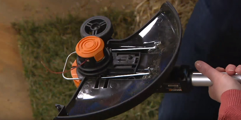 WORX WG163 GT 3.0 20V Cordless Grass Trimmer in the use