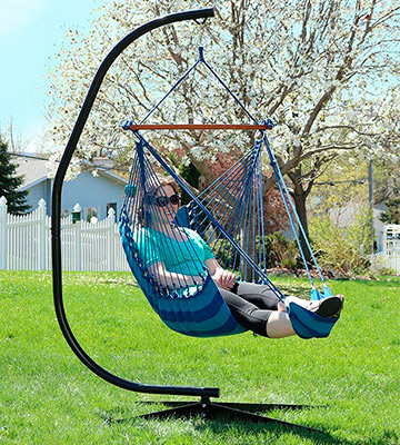 Review of Sunnydaze Decor Hanging Padded Soft Cushioned Hammock Chair