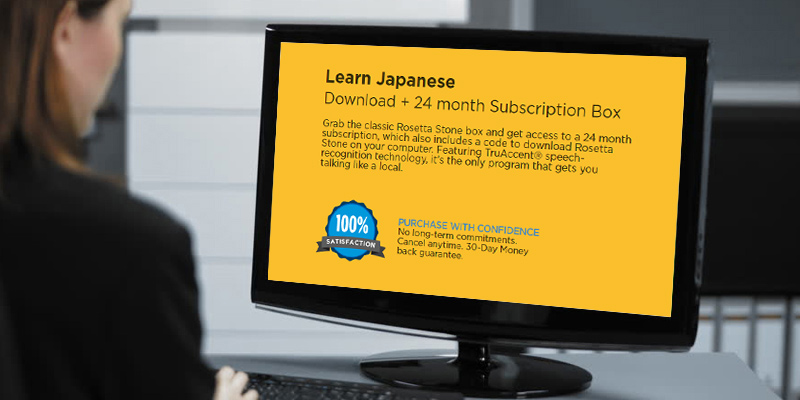 Rosetta Stone Learn Japanese in the use