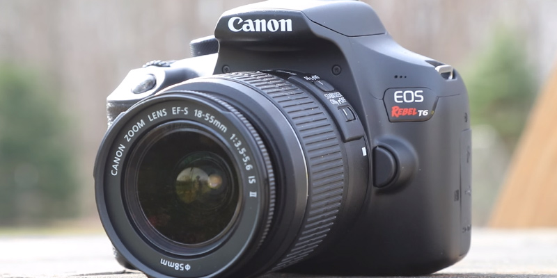 Canon Rebel T6 DSLR Camera Kit with EF-S 18-55mm f/3.5-5.6 IS II Lens in the use