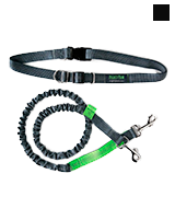 Mighty Paw Hands Free Grey/Lime - 36 inch Bungee