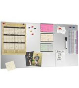 STEELMASTER Magnetic Metal Board with Dry-Erase Pad, Pen and Magnets