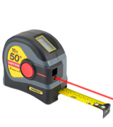 General Tools LTM1 2-in-1 Laser Tape Measure, 16 ft