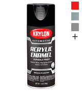 Krylon Acrylic Automotive Enamel, Gloss, Black, 12 oz. (KA8601007)