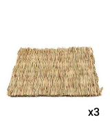 Hamiledyi Grass Woven Mat for Bunny Bedding