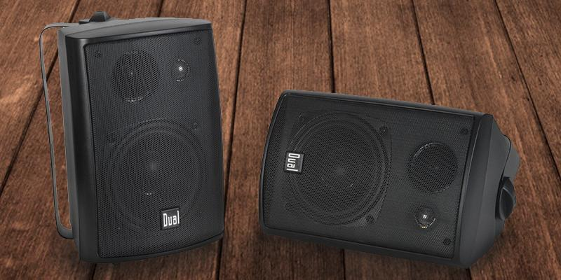 Dual LU43PB 3-Way High Performance Indoor/Outdoor Speakers with Swivel Brackets in the use