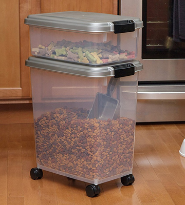 Review of IRIS USA, Inc. 301126 3-Piece Airtight Pet Food Container Combo