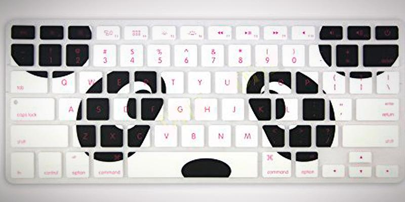 DHZ Silicone Ultra Thin Keyboard Cover for MacBook in the use