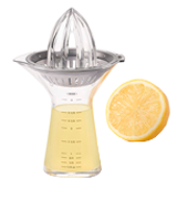 OXO Good Grips SteeL Small Citrus Juicer with Built-In Measuring Cup and Strainer