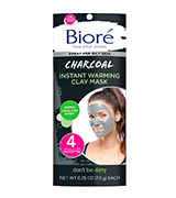 Biore Charcoal Instant Warming Clay for Oily Skin Face Mask