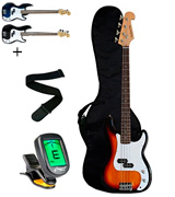 Crescent EB-SB-Tuner-Picholder-Pics Electric Bass Guitar Starter Kit