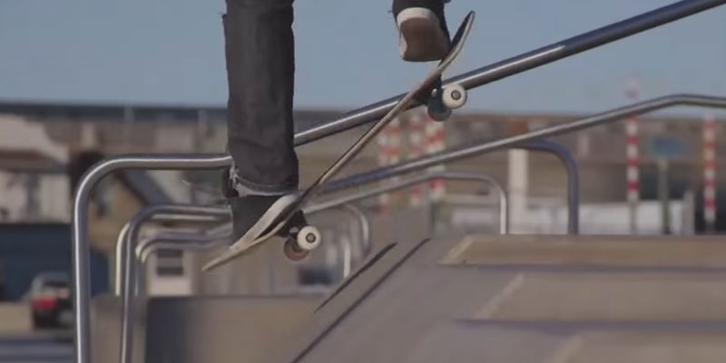 Santa Cruz Skateboards Land Shark Rasta Sk8 Complete Skate Boards in the use