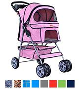 BestPet 4 Wheels Pet Dog Cat Stroller w/RainCover