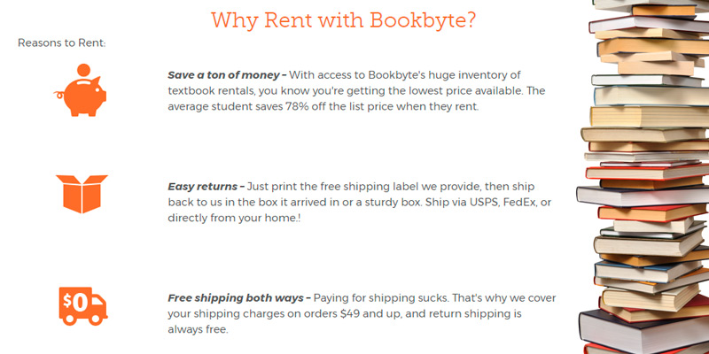 Bookbyte Textbook Rental in the use